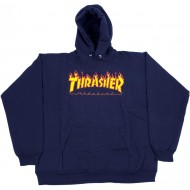 THRASHER SWEAT CAPUCHE BLEU