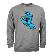 SANTA CRUZ SWEAT SCREAMING HAND GRIS
