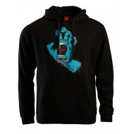 SANTA CRUZ SWEAT CAPUCHE SCREAMING HAND NOIR