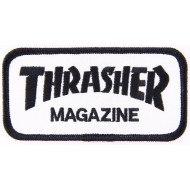 THRASHER PATCH SKATE MAG BLANC