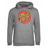 SANTA CRUZ SWEAT CAPUCHE CLASSIC DOT DARK HEATHER