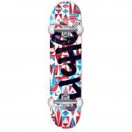 CLICHE SKATE COMPLET DIAMOND BLUE RED 7.375""