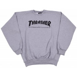THRASHER SWEAT CREW GRIS