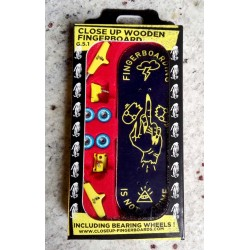 CLOSE UP FINGER SKATE FINGERBOARDING IS NOT A CRIME LOW CONCAVE 31MM