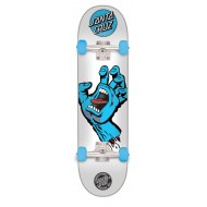 "SANTA CRUZ SKATE SCREAMING HAND 8"" BLEU BLANC"