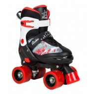 ROOKIE ROLLER QUAD ACE JR AJUSTABLE NOIR ROUGE  BOY