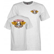 POWELL PERALTA T-SHIRT WINGED RIPPER GRIS