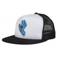 SANTA CRUZ CASQUETTE SCREAMING HAND MESH WHITE / BLACK