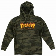 THRASHER SWEAT CAPUCHE FLAME FOREST CAMO