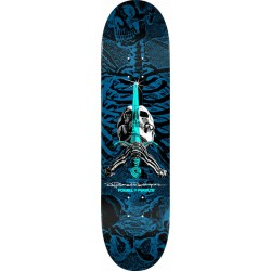 POWELL PERALTA PLATEAU PS SKULL AND SWORD BLUE 8 X 31.45